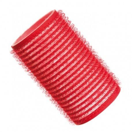 Hajcsavaró öntapadós piros  12db-os 32mm