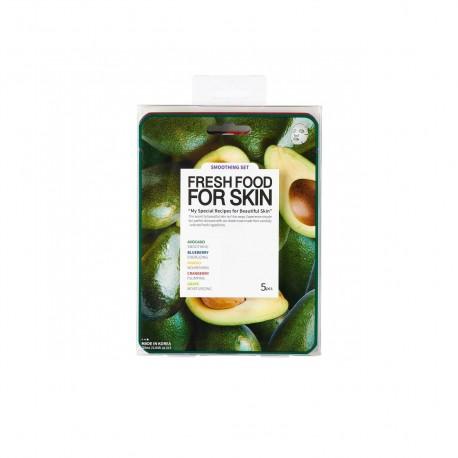 Fátyolmaszk fresh food szett avokadó nyugtató 5db