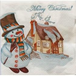 Szalvéta Karácsonyi hóember 2 rétegű 20db 25x25cm