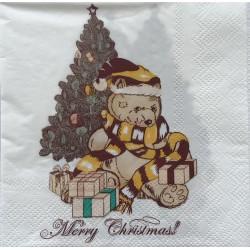 Szalvéta Karácsonyi Macis 2 rétegű 20db 25x25cm