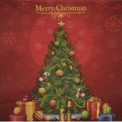 Szalvéta Karácsonyi Piros  2 rétegű 20db 33x33cm