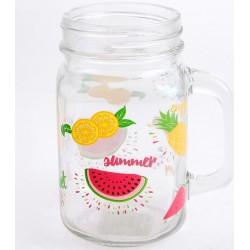Pohár üveg gyümölcsös 450ml KH1239-2F
