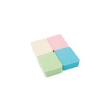 Kozmetikai alapozószivacs rombusz színes 4db-os C60015
