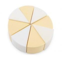 Kozmetikai alapozó szivacs körcikkes színes  C6008