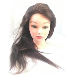 Babafej női barna human 50%, szintetikus 50% 40-45cm KB
