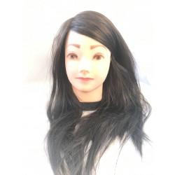 Babafej fekete kevert haj 40-45cm P24