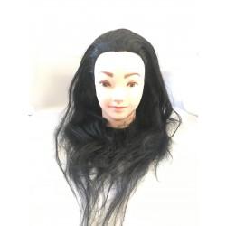 Babafej női barna szintetikus 40-45cm P22