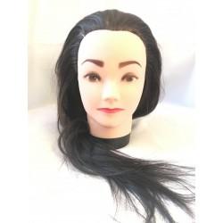 Babafej női barna kevert haj 40-45cm P23
