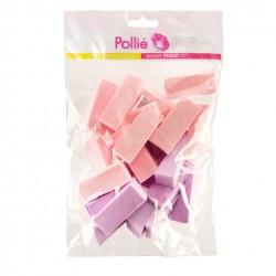 Kozmetikai alapozó szivacs csomag lila-rózsasín Eurostil 02671