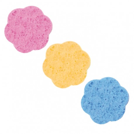 Kozmetikai lemosó szivacs virág színes 12db-os Eurostil 01355