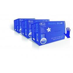 Festőkesztyű nitril púdermentes kék 100db (S)